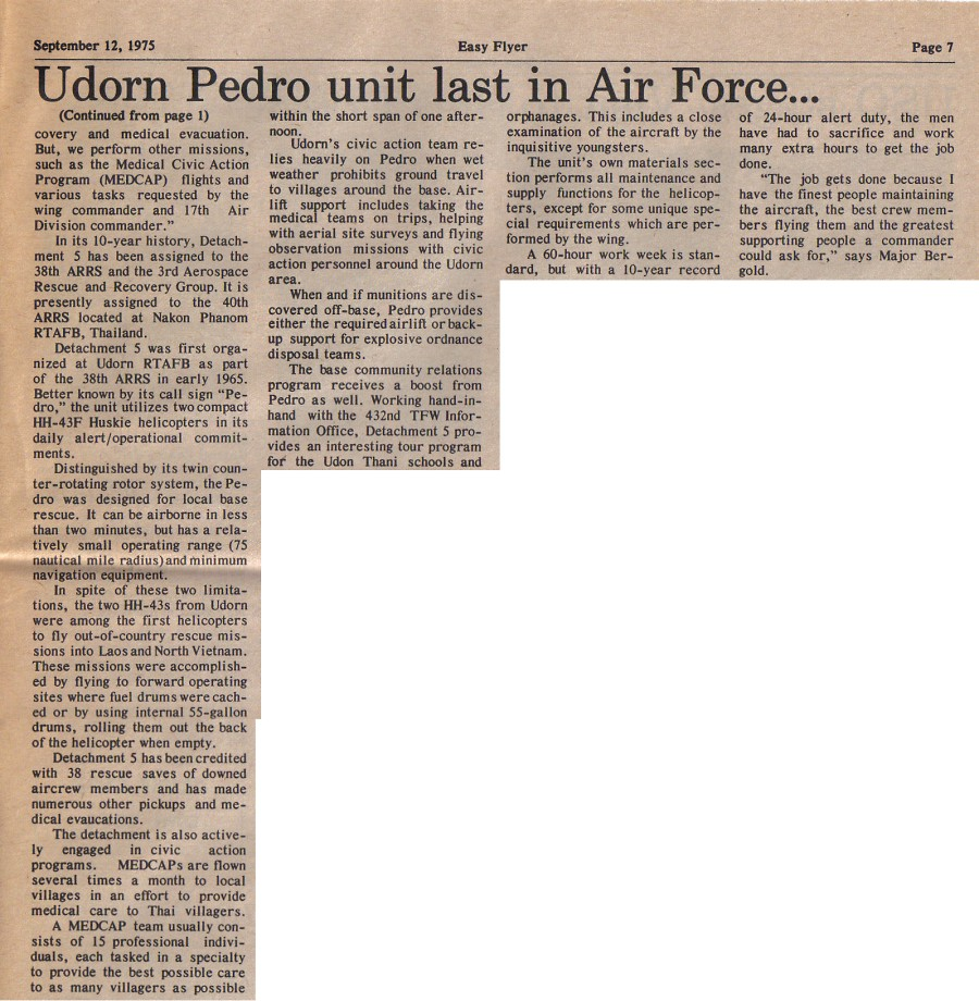 Udorn Pedro unit last in AF September12 1975 p2